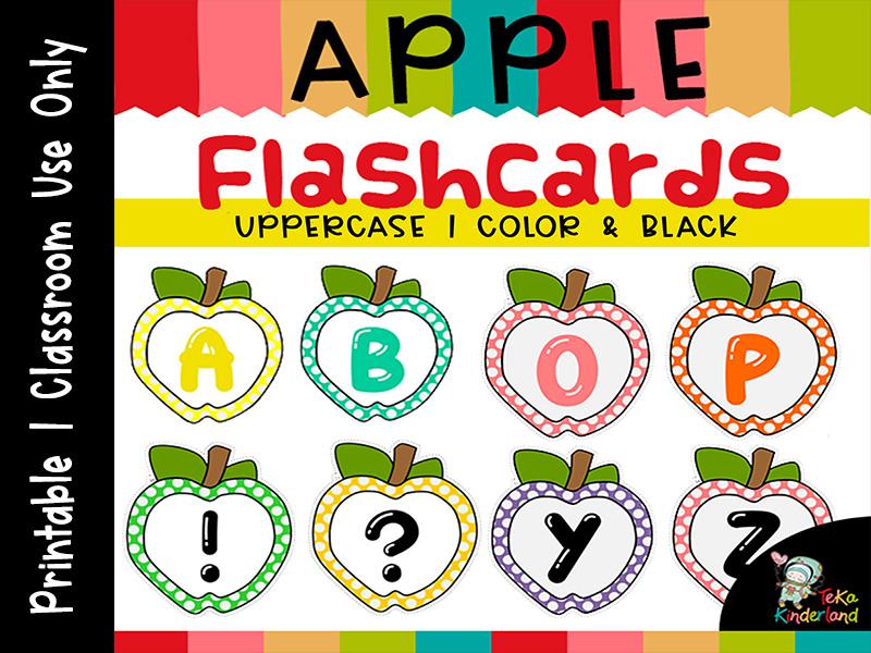 ABC Printables, Apple Flashcards Alphabet Letter Uppercase