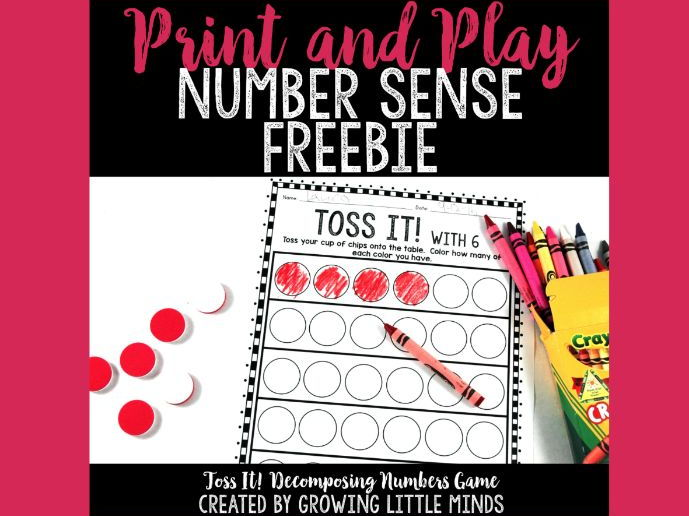 Number Sense Freebie:  Toss It!