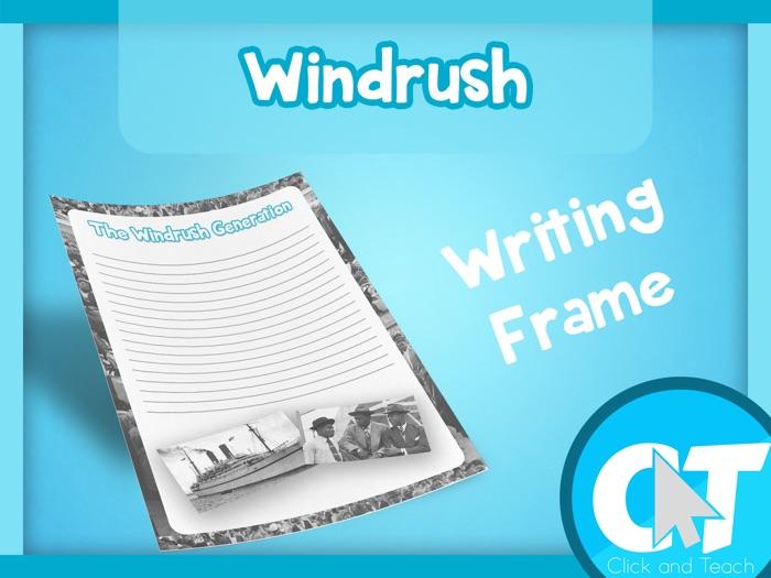 The Windrush Generation - Writing Frame Page Border