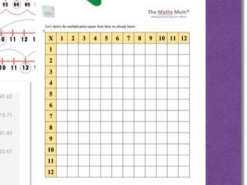 The Maths Mum® Blank Multiplication Square