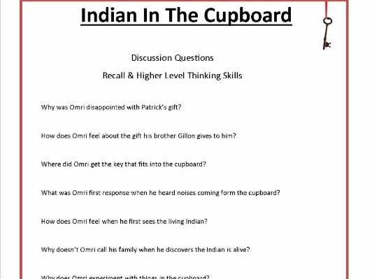 Indian in the Cupboard by Lynne Reid Banks Common Core Aligned 43 Worksheets