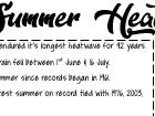 Summer Heatwave 2018