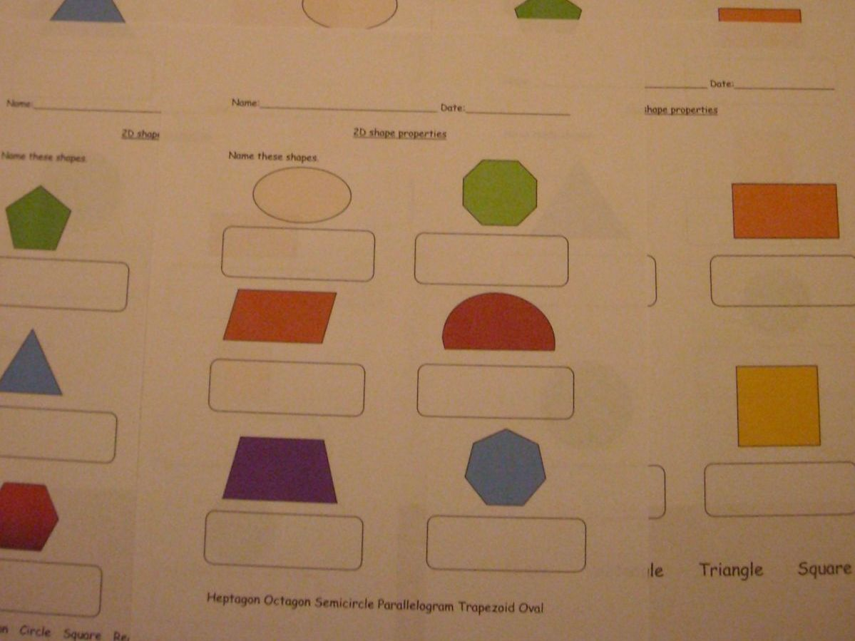 2D and 3D shape properties for SEN, Early Years, Primary ...