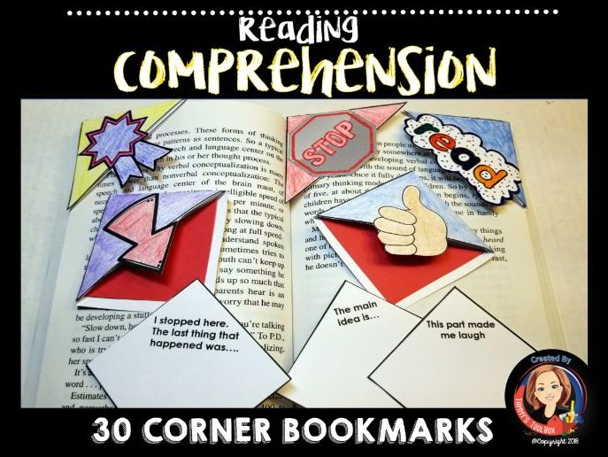 Reading Comprehension Strategies Corner Bookmarks