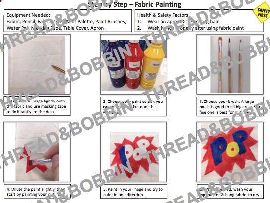Fabric Paint & Applique Instructions