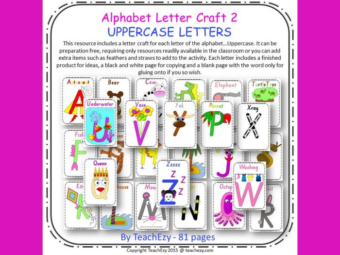 Alphabet Letter Craft - Uppercase Letters