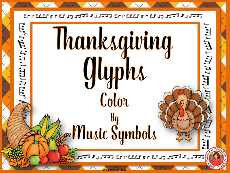 Thanksgiving Color By Music Symbols By Aussiemusicteacher Teaching