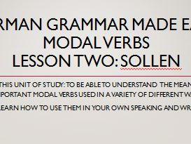 German modal verbs. Complete short lessons. lesson 2 sollen