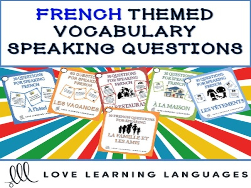 30 French speaking questions - La famille et les amis - Friends and family