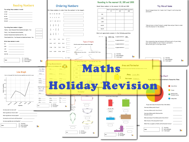 Maths Holiday Revision year 5