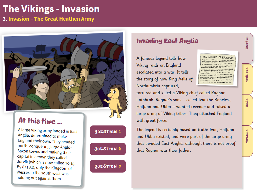 The Great Heathen Army - Interactive Teaching Book - The Vikings KS2