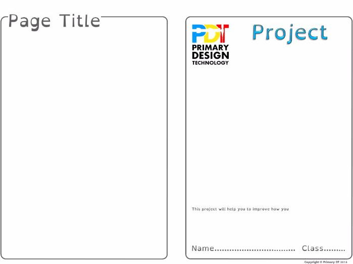 4 page editable project booklet