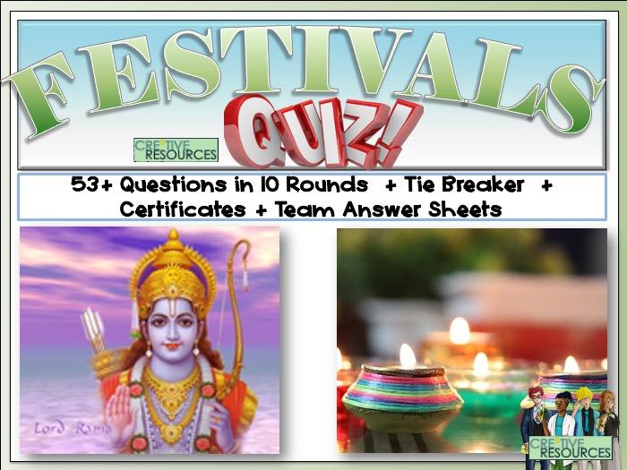 Religious Festivals Quiz