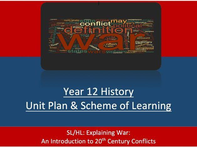 IB P2 Unit Plan Introduction to 20thC War