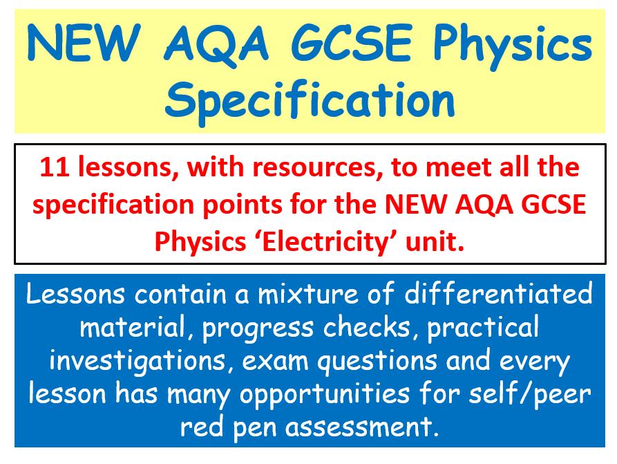 NEW AQA GCSE (2016) Physics - Electricity