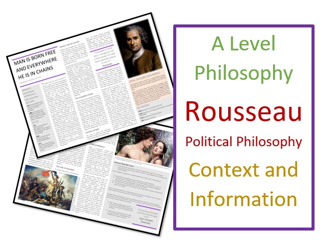 Philosophy and Ethics - Rousseau on Political Philosophy - Context and Information