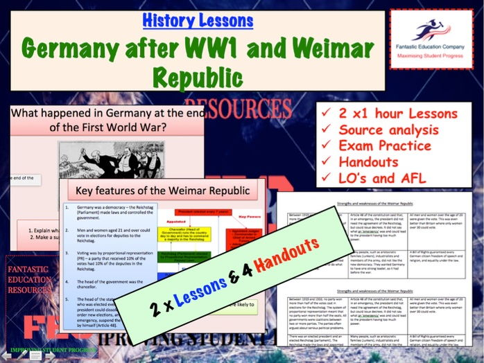 Germany after WW1and the Weimar Republic - GCSE History 9-1