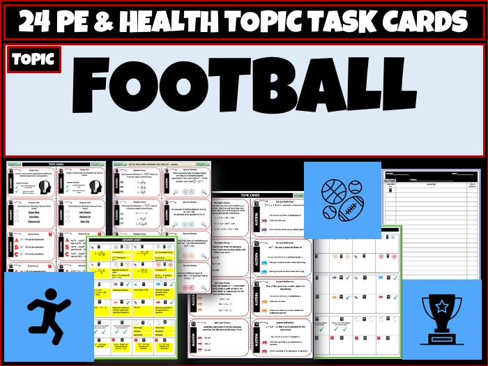 Football PE Task Cards