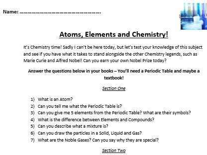 KS3/4 GCSE Science Engaging Cover Worksheets - 3 packed worksheets of Biology/Chemistry and Physics!