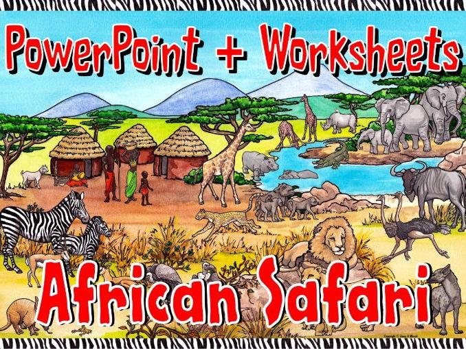 African Safari KS1 – Worksheets and PowerPoint