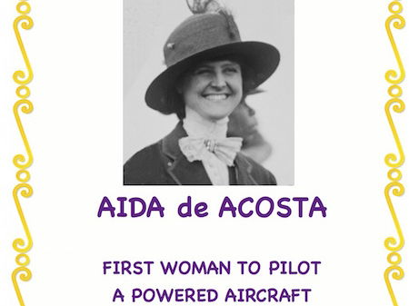 Women Trailblazers: Aida de Acosta(First Woman to Pilot a Powered Aircraft)