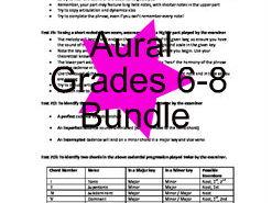 ABRSM Grades 6-8 Aural help sheets