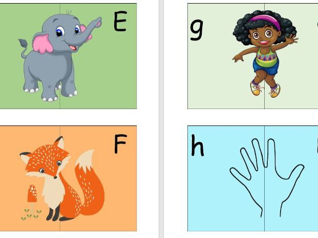 Capital Letter Match Game- Play based.