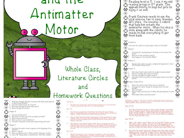 Frank Einstein and the Antimatter Motor Discussion Questions and Answers