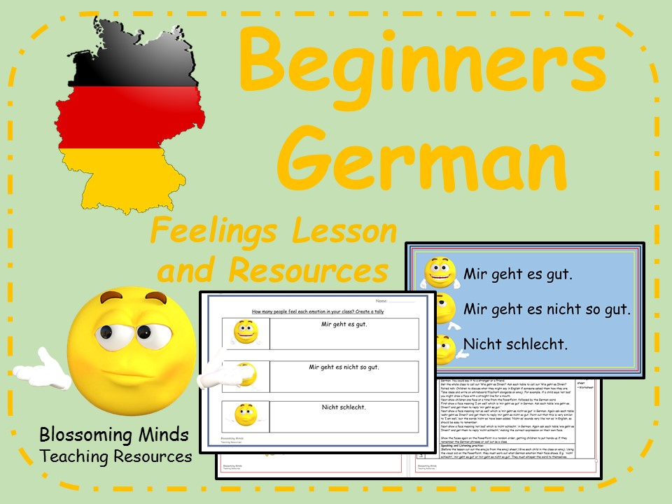 German lesson and resources - Emotions and Feelings