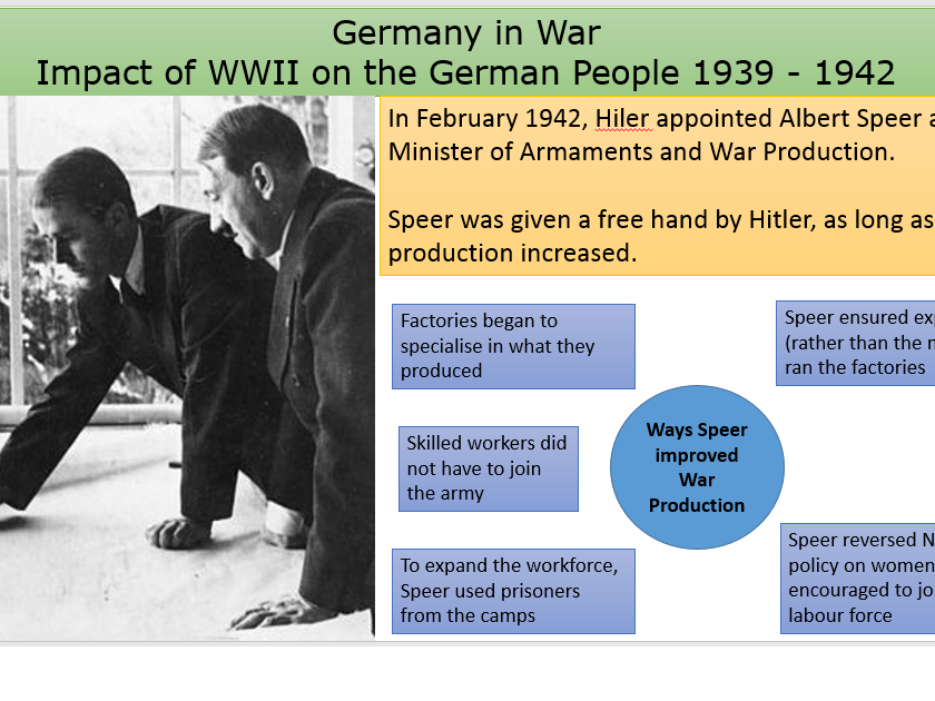 Effects of WWII on German population 1939 - 1942