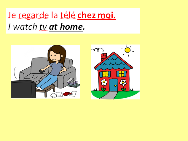 Hobbies in French - with added details.