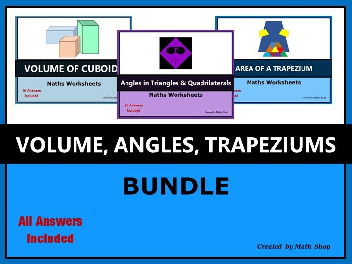 Volume Angles Trapeziums Bundle