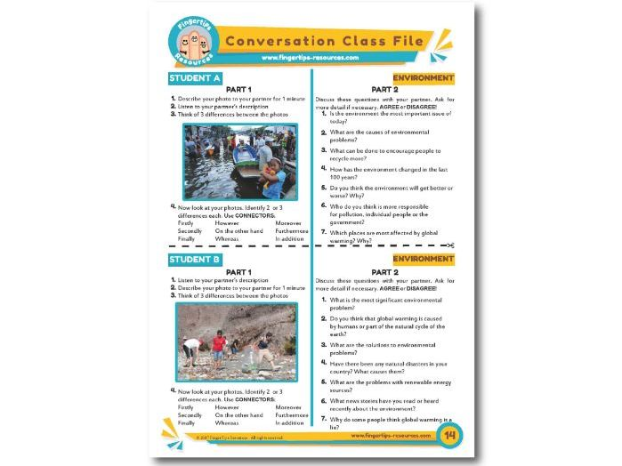 Environment - ESL Conversation Activity