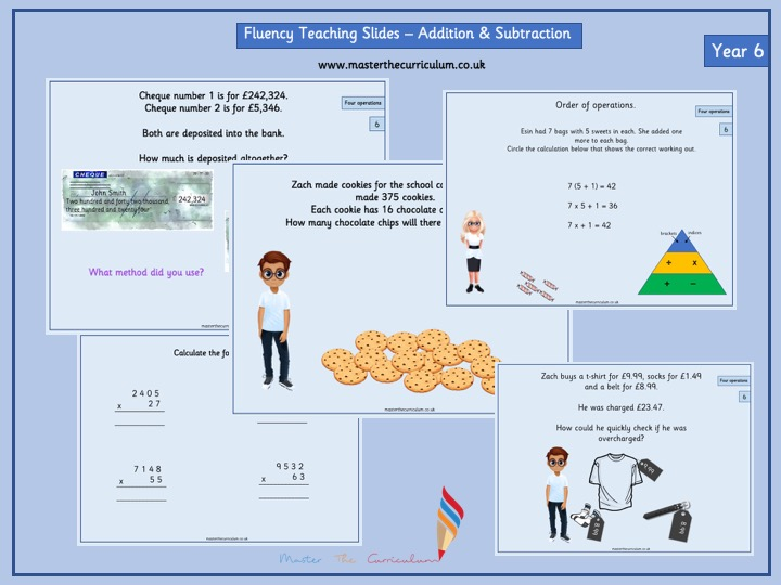 Year 6- Autumn 1- Block 2- Addition and Subtraction Fluency Teaching Slides White Rose Style