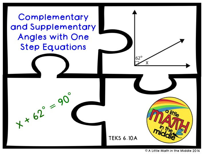Complementary and Supplementary Angles with One Step Equations