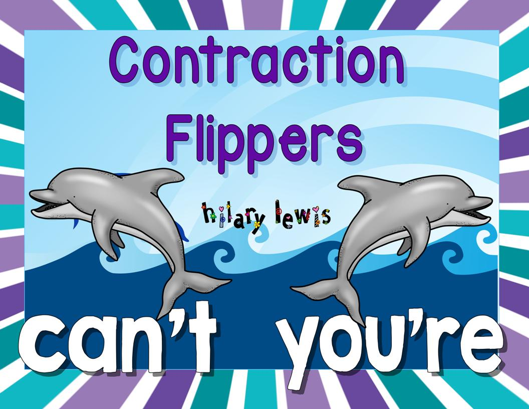 Contractions FLIPPERS Word Work Activity