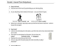 ABRSM Grade 1 Aural test help sheet