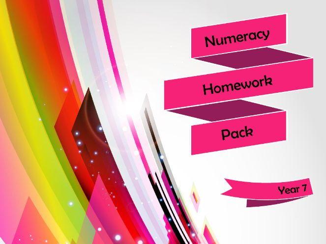 Year 7 Numeracy Homework Pack