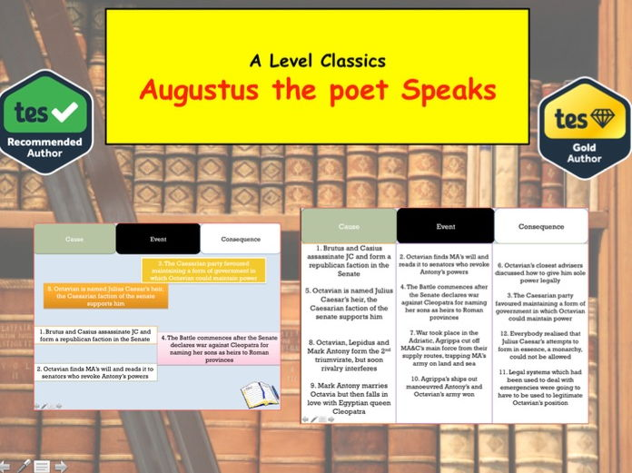 A level Classics Lesson on Augustus The Poet Speaks