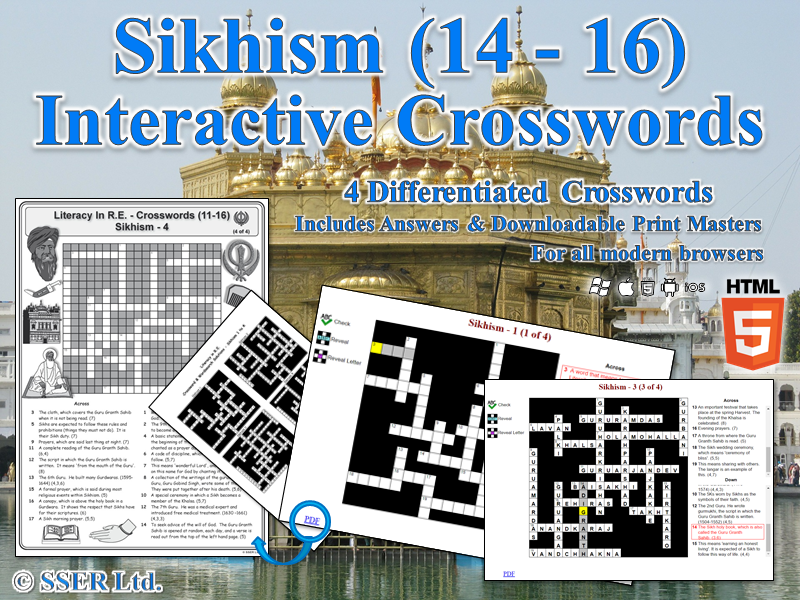 Literacy In Sikhism – Interactive Crosswords (HTML5)
