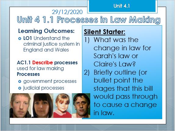 Criminology Unit 4 1.1 Law Making 2