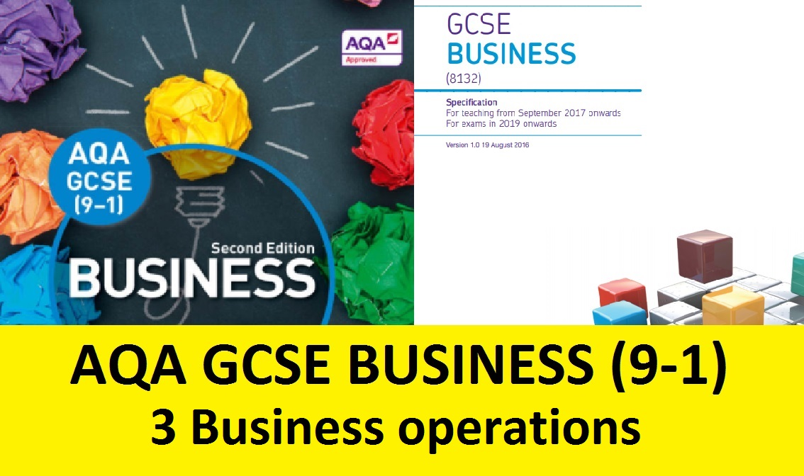 AQA GCSE Business 9-1 - 3 Business operations