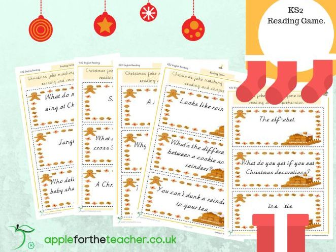 Reading Game Christmas Jokes Mix and Match