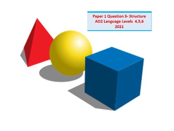 AQA English Language- Paper 1: Question 3- Structure.