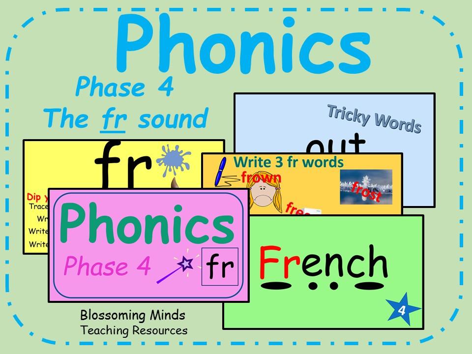 Phonics phase 4 - Consonant blends - The 'fr' sound