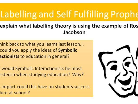 AQA A level Sociology- Education: Labelling and self-fulfilling prophecy