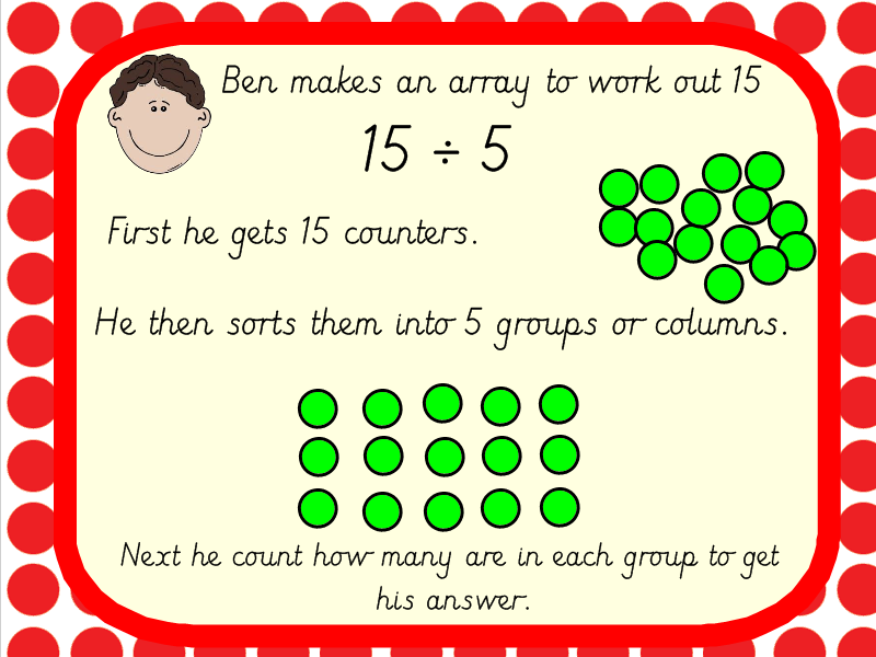 Year 3 Using Arrays for Division Complete lesson Pack