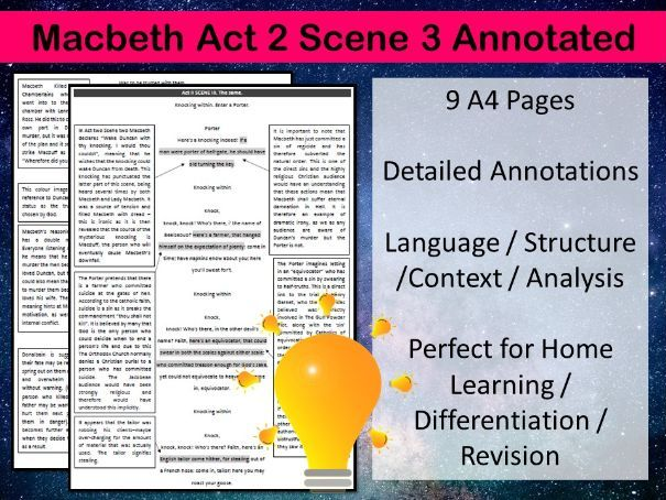 Macbeth Act 2 Scene 3 Annotated