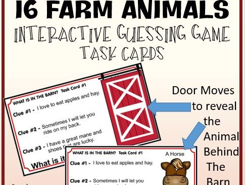 Interactive Farm Animals Guessing Game - Distance Learning Google Slides