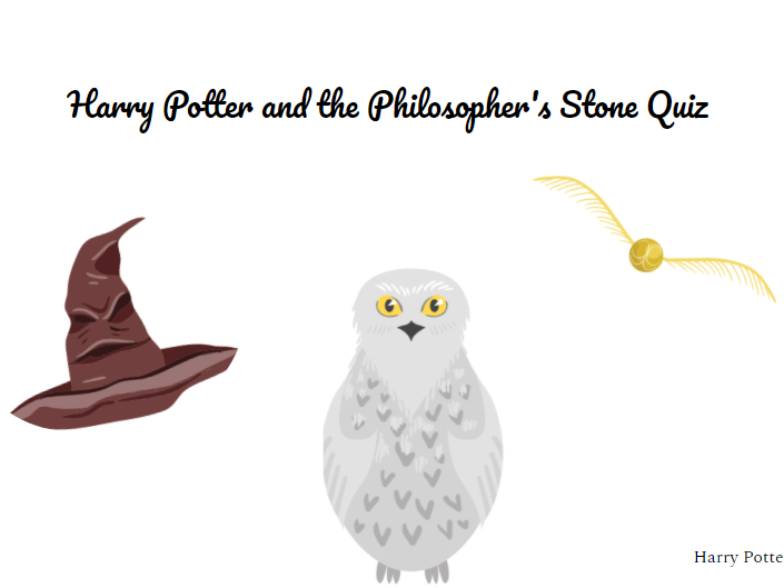Harry Potter and the Philosopher's stone Activities